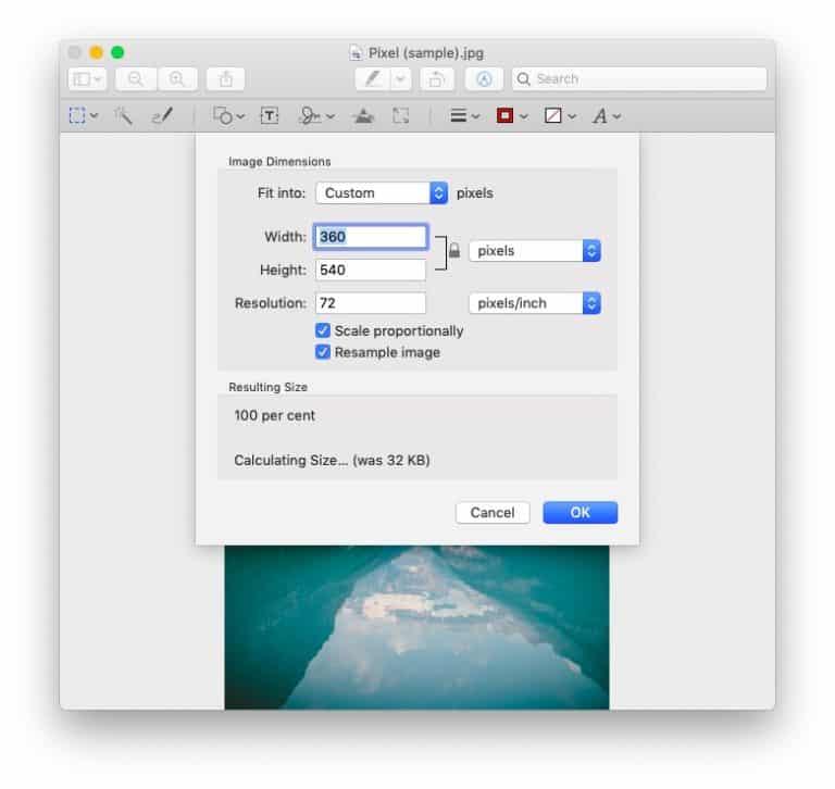 Image resolution on Mac