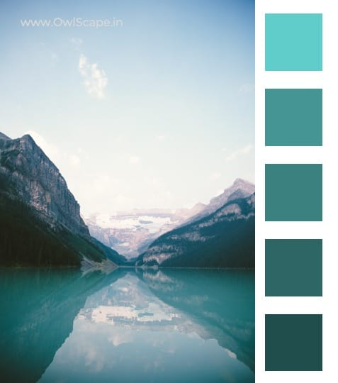 Monochromatic Color Scheme Inspiration 2 - Mountain & river