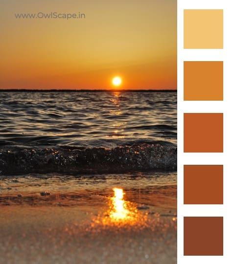 Monochromatic Color Scheme Inspiration 3 - Sunset