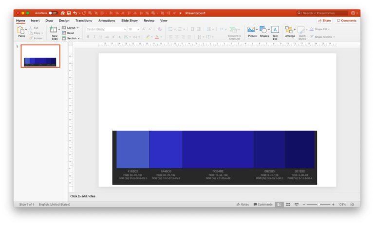 Setting monochromatic scheme in PPT - step 2