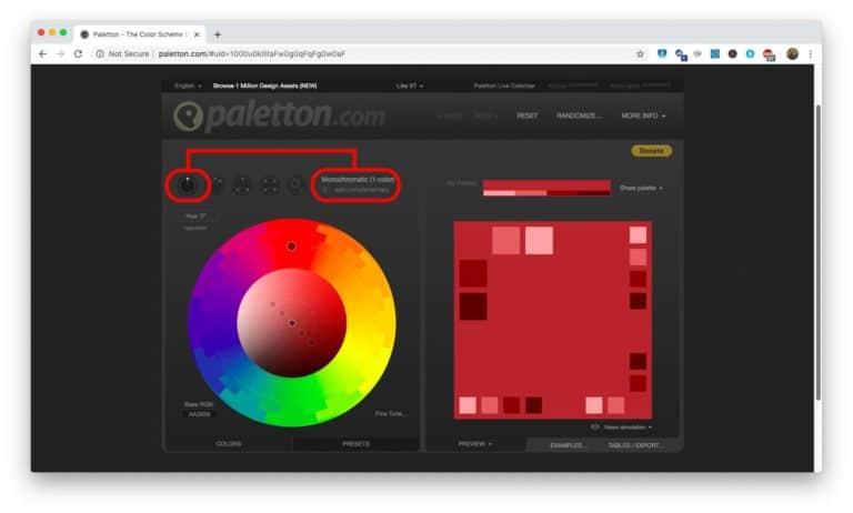 Create your own monochromatic Scheme - Step 2