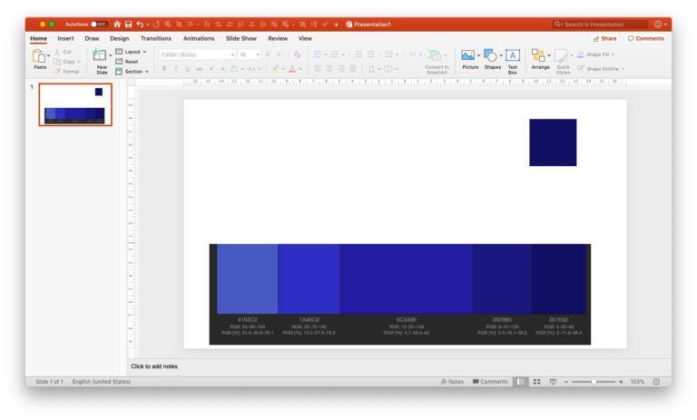 Setting monochromatic scheme in PPT - step 4