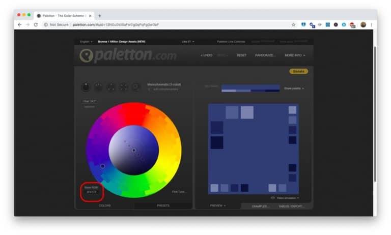 Create your own monochromatic Scheme - Step 4