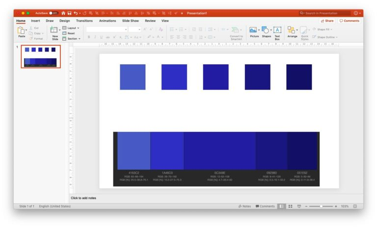 Setting monochromatic scheme in PPT - step 5